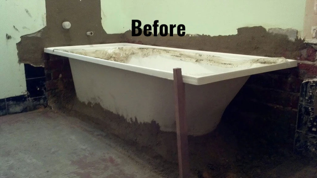 Bingham Plumbing & Gas - Before Bathroom and Bathtub Renovation