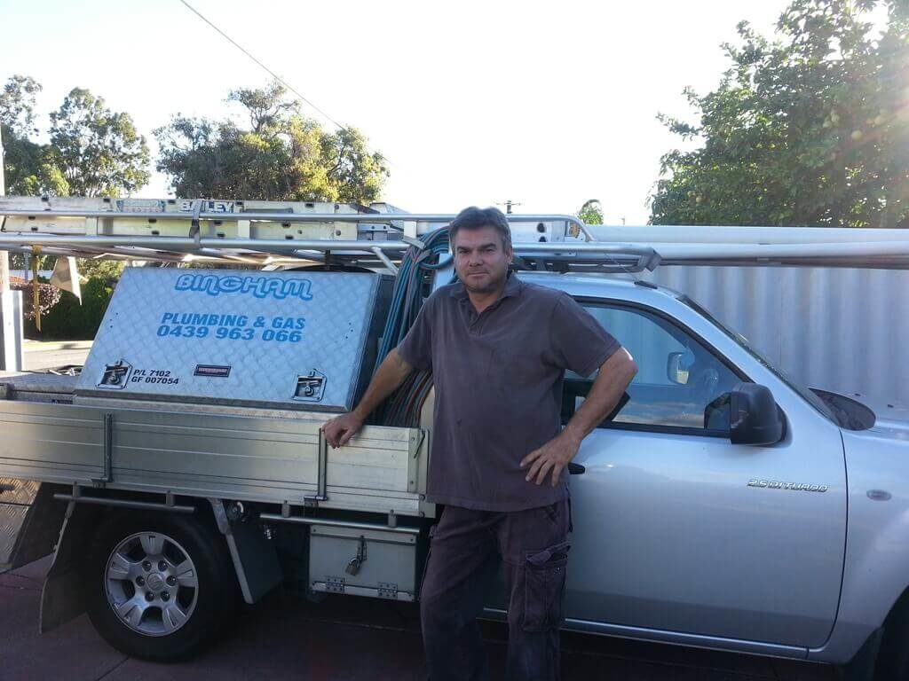 Bingham Plumbing & Gas - Plumber and Service Vehicle